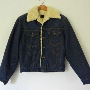 Vintage Sears Sherpa Denim Jacket